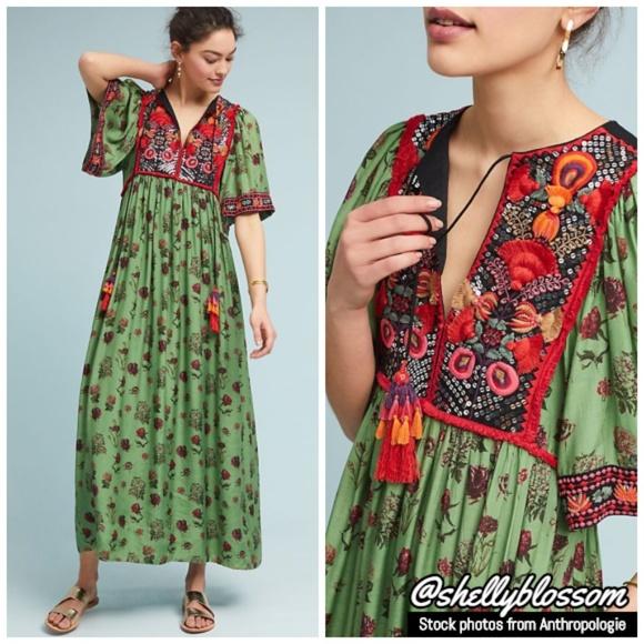 fc7d0bb04041a Anthropologie Dresses | Nwt Basil Embroidered Dress Medium | Poshmark